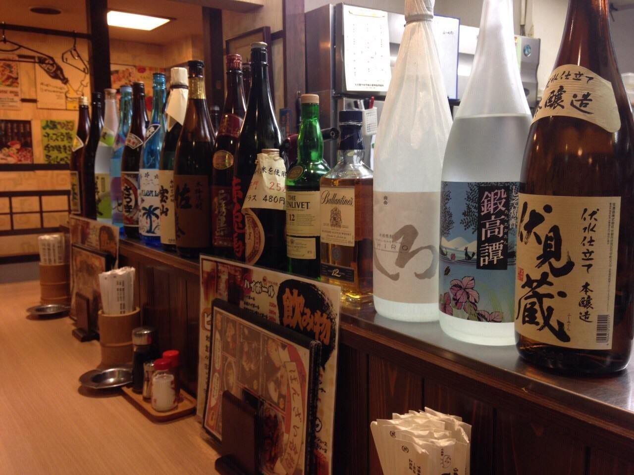 日本酒、焼酎取り揃えております。