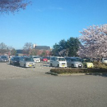 広々駐車場300台、翌日までの駐車OKです!