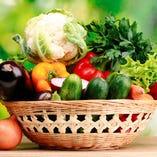 新鮮野菜をたっぷり使ったお料理を召し上がれ。