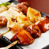 ■比内地鶏 串焼き盛合せ(4本)