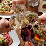 お酒がすすむ西欧料理を中心としたコースは、4,000円から3種類