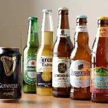 輸入瓶ビールも勢揃い
