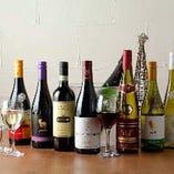 赤白ワインは20種以上!隠し酒もございます