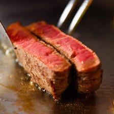 絶品、神戸牛を鉄板焼きで