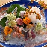 ◇ 向 付 ◇ 夕方〆天然鮮魚【お造り豪華盛り合わせ】