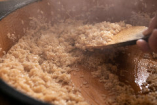 赤酢を使ったこだわりのシャリは、まろやかな口当たりです。
