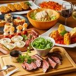 【2H飲み放題】US産牛イチボのグリルを堪能できる『スタンダードコース』は各種宴会に