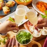 会社宴会や女子会、ご友人とのお誘い合わせのパーティーに最適です