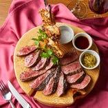 希少な牛肉の部位を盛り合わせた「希少部位3種盛り」で食べ比べながら楽しめる