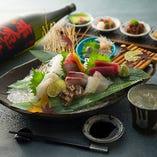 当店自慢の鮮魚は身の締りが違います。旨い肴と極上の日本酒を!