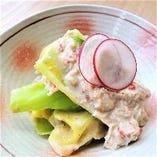 ずわい蟹とキャベツの胡麻酢
