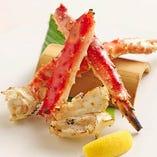 タラバ蟹の炙り焼き