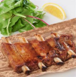 骨付きイベリコ豚の炙り焼き バルサミコ醤油