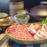 【食べ比べコース】 沖縄ブランドの牛と豚を両方とも楽しめます