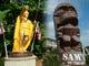 カメハメハ大王や超巨大なティキ像がお出迎え!