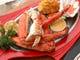 新鮮なシーフード、タラバガニ、海老、浜鯛などメニューも豊富