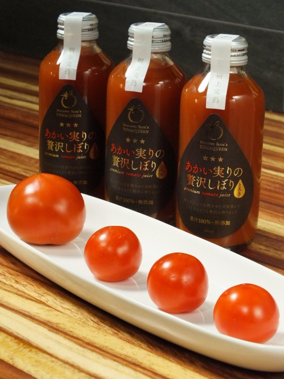大崎市鹿島台のトマトジュース。持ち帰りもできます!