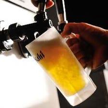 凍らせたジョッキに注ぐ「生ビール」