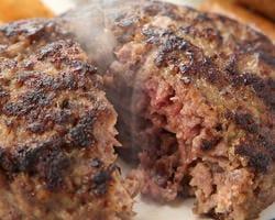 牛肉100%の絶品まんまるハンバーグ