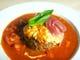 モッツァレラチーズと生ハムの濃厚トマトソースハンバーグ