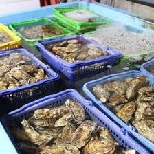 系列店の牡蠣小屋より新鮮な牡蠣を♪