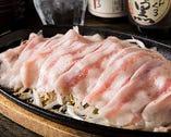 糸島豚もやし鉄板おろしポン酢 700円