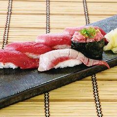 生本まぐろにぎり尽くし(六貫)炙り寿司盛り合わせ(六貫)