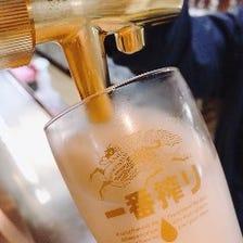 神戸工場の作りたて新鮮樽生ビール
