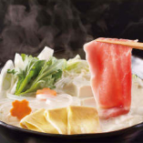 湯豆腐と豚の豆乳しゃぶしゃぶ