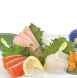 旬のお魚を使用したお刺身三点盛り【東京都】