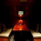 4名様用◆カーテン付半個室席×2部屋