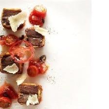 【スパークリング付】アミューズ、前菜、パスタ、魚&肉のWメイン、デザート3種の全6品