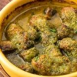 牡蠣とマッシュルームの香草ガーリックバター焼き