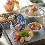 [懐石の技] 日本料理の職人の技で季節感と彩りあるお料理を…