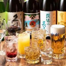 久保田や滋賀の地酒・焼酎も充実!大満足の飲み会が叶う『2時間プレミアム飲み放題』
