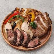 ミートプラッター お肉の炭火焼 盛り合わせ