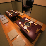 ゆったり寛げる掘り炬燵席(4~14名までの半個室)