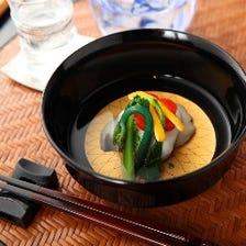 四季折々の食材を使用したお料理を堪能する月替り本懐石「清水 Kiyomizu」
