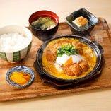 ロースカツ&ヒレカツ煮定食