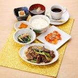 牛肉と青菜のオイスター炒め&海老チリ中華膳