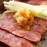 700年前に伝来した金山寺味噌で食す。これも当店オリジナル!