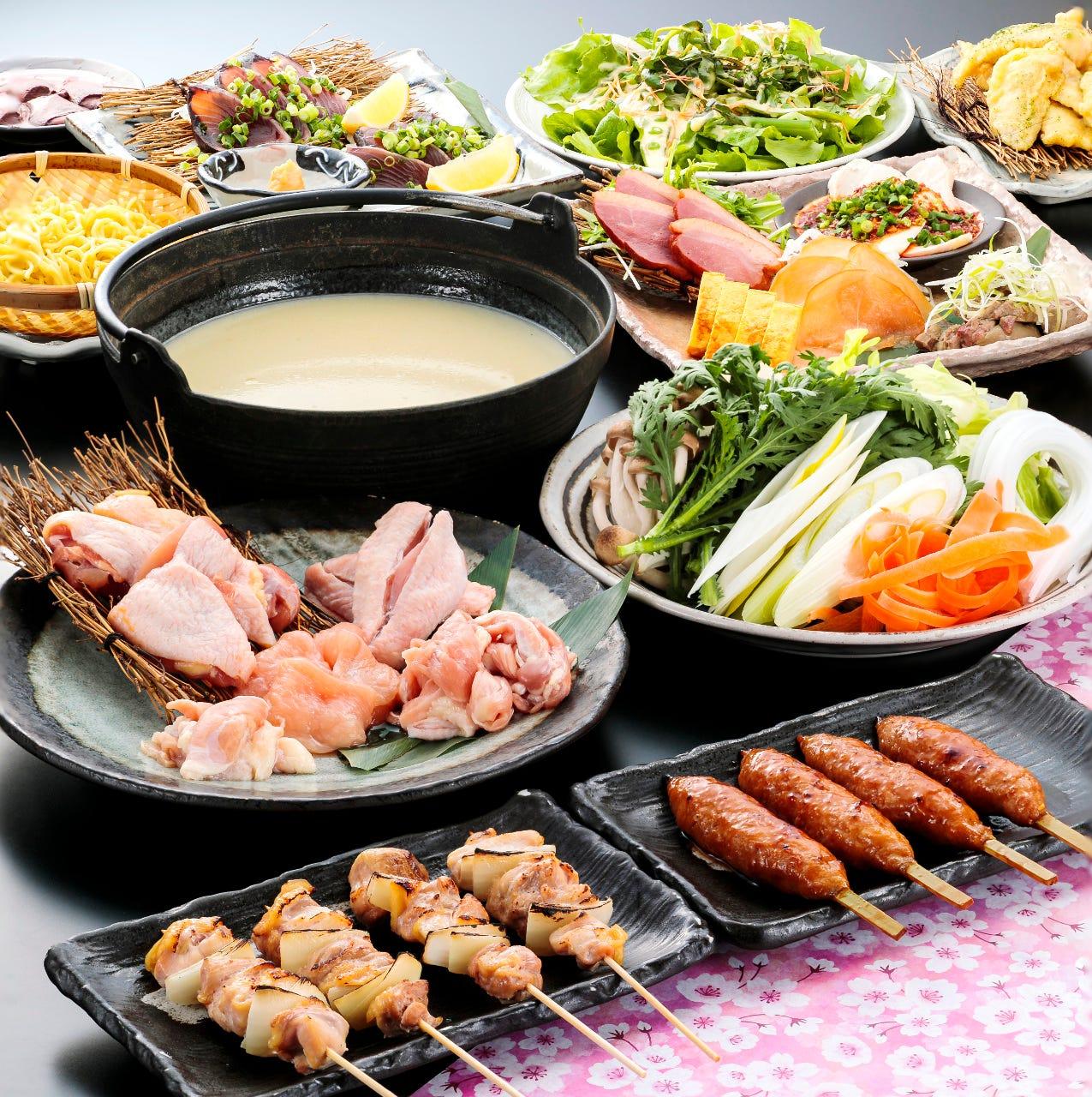 【水炊乃宴コース】歓送迎会一番オススメのコースです
