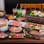 ◆食べ放題コース◆ 新鮮肉やサイドメニュー全100品が楽しめる