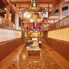 広々快適空間でプライベート焼肉宴会