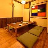 【2階】座敷席完全個室(2~6名様×1部屋、6~8名様×1部屋)