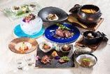 宮崎牛A5ランク牛をメインに様々コース料理をご用意しています。