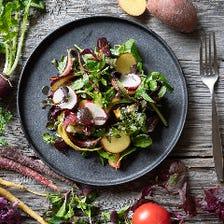 新鮮野菜で安心、安全なお料理を