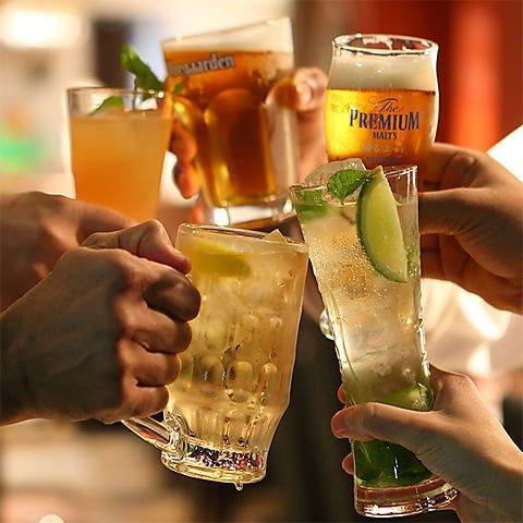 人気の飲み放題は常時160種以上ご用意しています