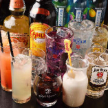 食放コース利用のお客様限定でアルコール飲み放題1,480円(税抜)