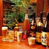 生ビールやハイボール、日本酒、ワイン…ドリンクの種類も充実♪